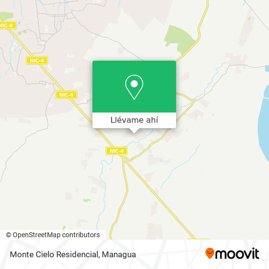 Mapa de Monte Cielo Residencial