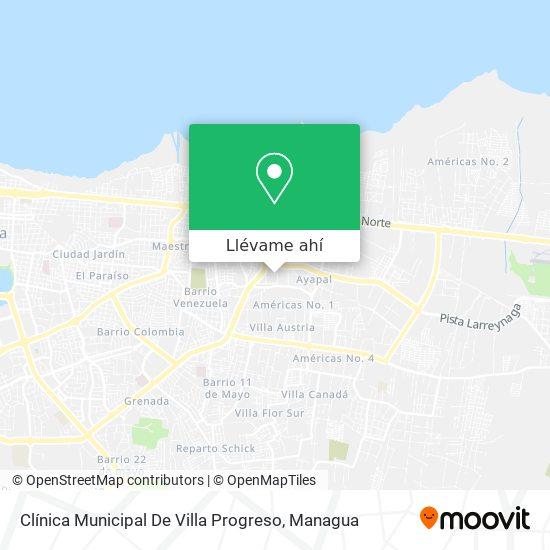 Mapa de Clinica Municipal De Villa Progreso