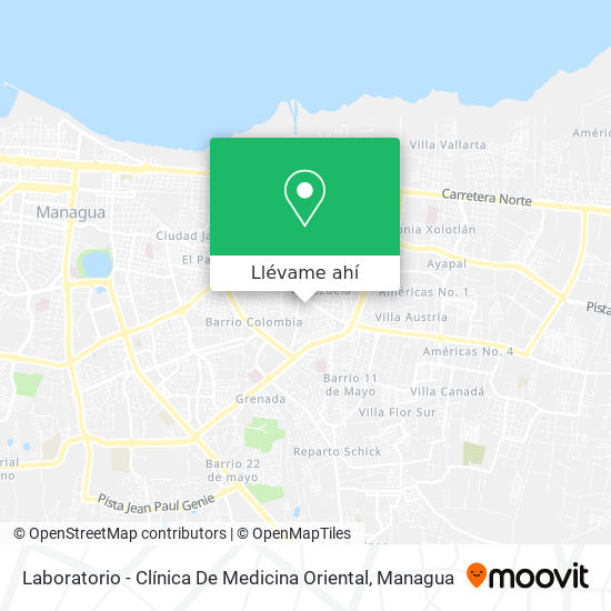 Mapa de Laboratorio - Clínica De Medicina Oriental