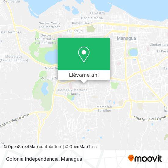 Mapa de Colonia Independencia