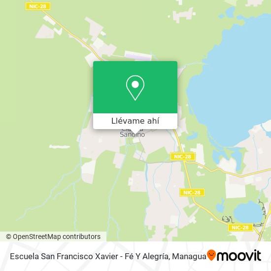 Mapa de Escuela San Francisco Xavier - Fé Y Alegría