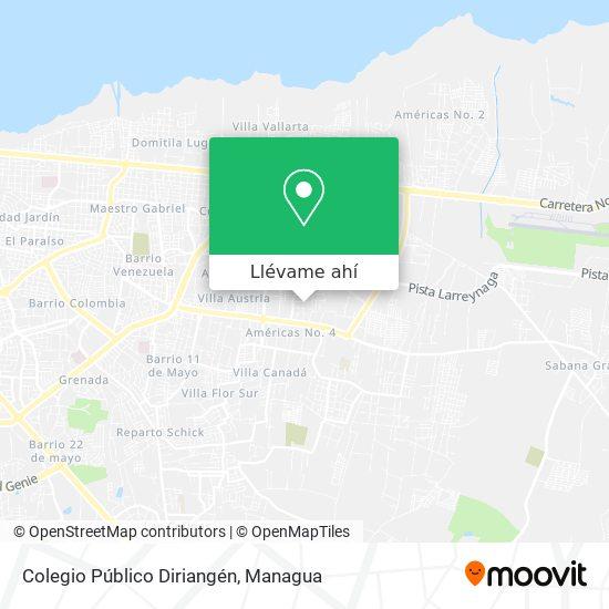 Mapa de Colegio Público Diriangén