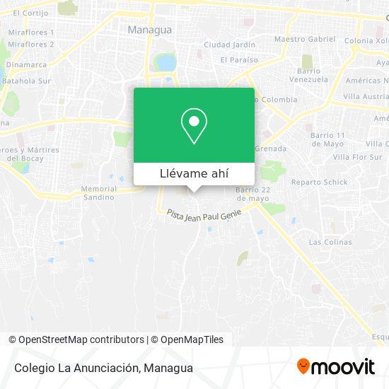 Mapa de Colegio La Anunciación