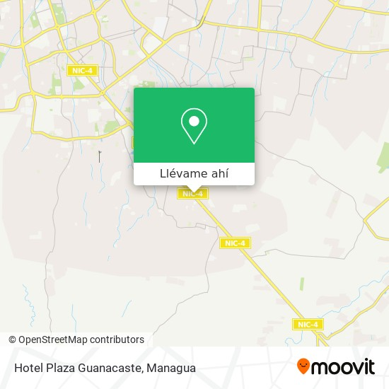 Mapa de Hotel Plaza Guanacaste
