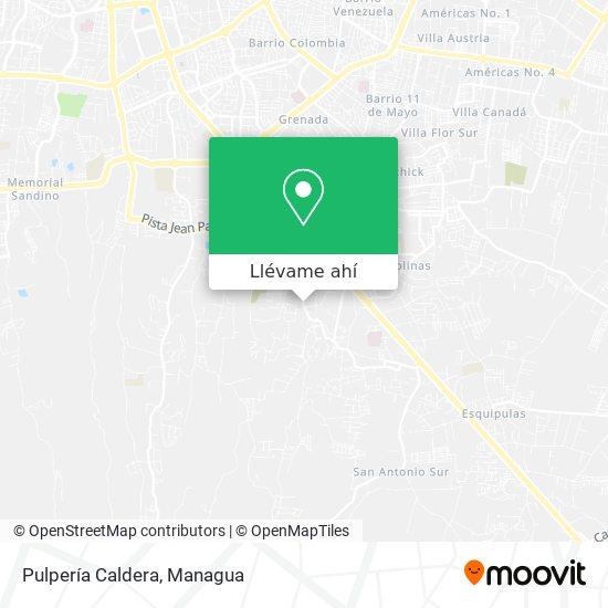 Mapa de Pulperia Caldera