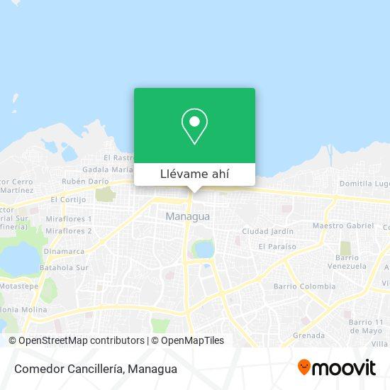 Mapa de Comedor Cancillería