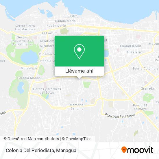 Mapa de Colonia El Periodista