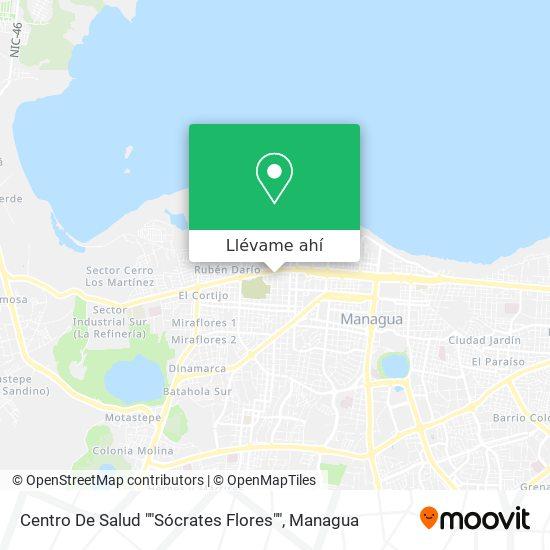 """Mapa de Centro De Salud """"Socrates Flores"""""""