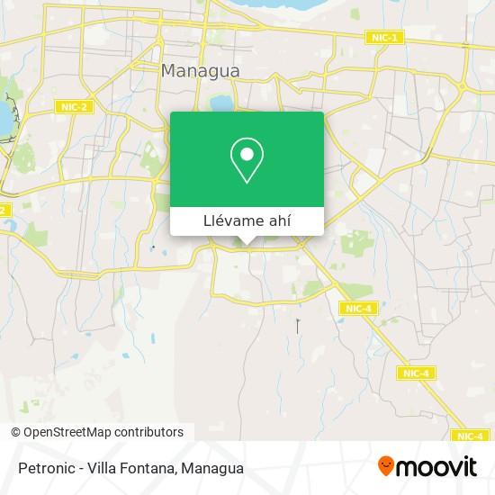 Mapa de Petronic - Villa Fontana