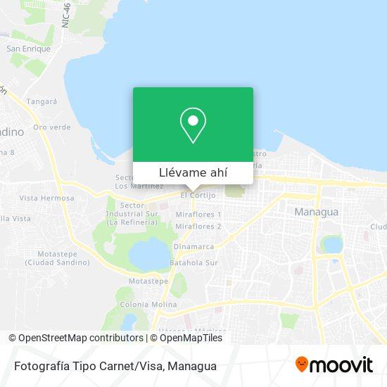 Mapa de Fotografía Tipo Carnet/Visa