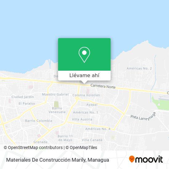 Mapa de Materiales De Construcción Marily