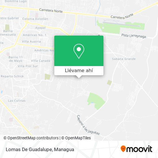 Mapa de Lomas De Guadalupe
