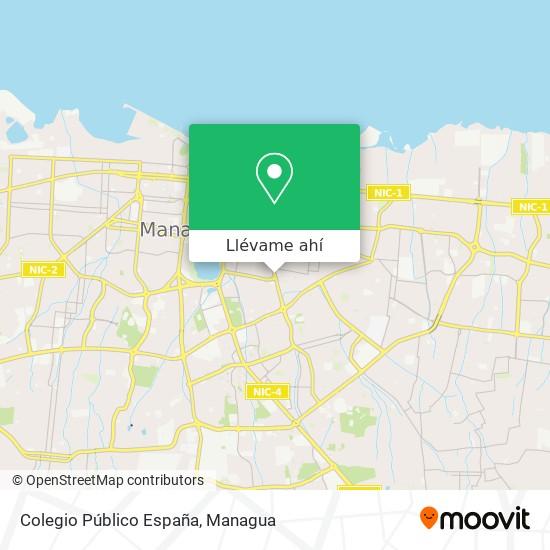 Mapa de Colegio Público España