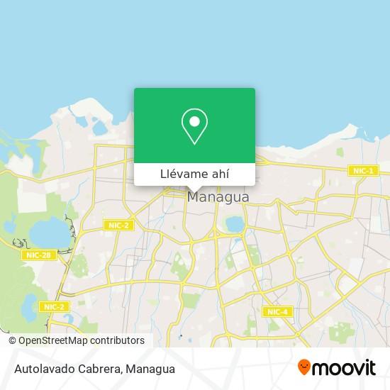 Mapa de Autolavado Cabrera