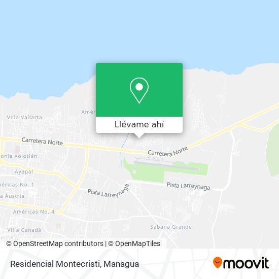 Mapa de Residencial Montecristi