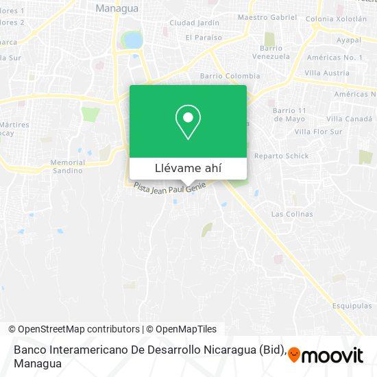 Mapa de Banco Interamericano De Desarrollo Nicaragua (Bid)