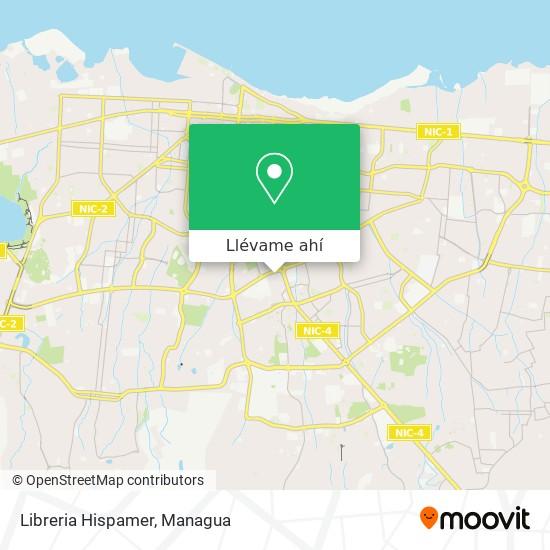 Mapa de Libreria Hispamer