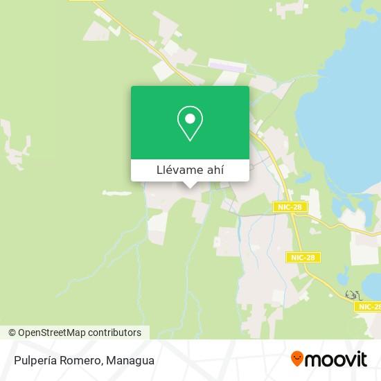 Mapa de Pulpería Romero