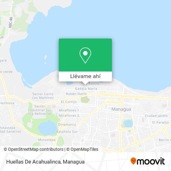 Mapa de Huellas De Acahualinca