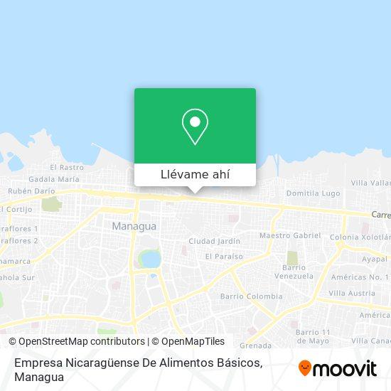 Mapa de Empresa Nicaragüense De Alimentos Básicos (Enabas)