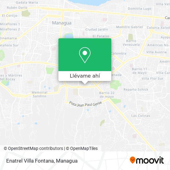 Mapa de Enatrel Villa Fontana