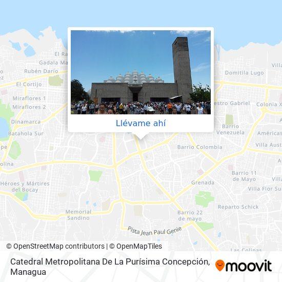 Mapa de Catedral Metropolitana De La Purisima Concepcion