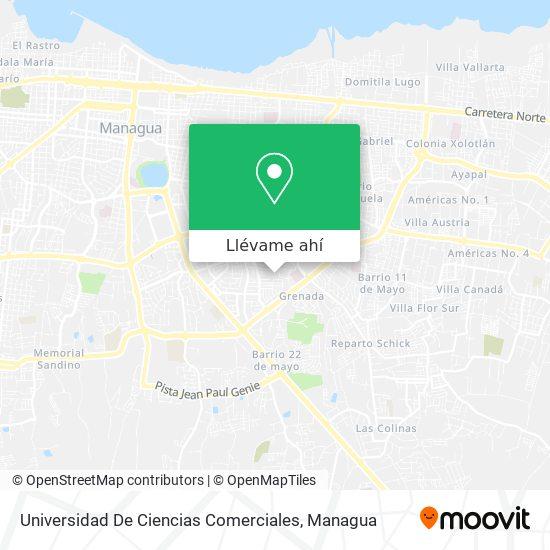 Mapa de Universidad De Ciencias Comerciales