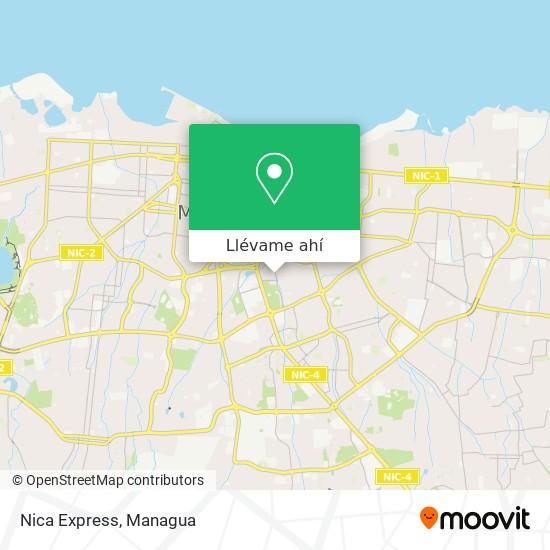 Mapa de Nica Express