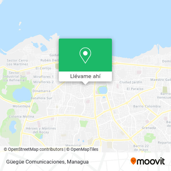 Mapa de Guegue Comunicaciones