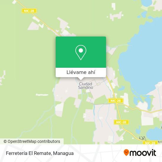 Mapa de Ferretería El Remate