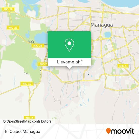 Mapa de El Ceibo