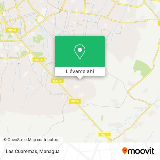 Mapa de Las Cuaremas