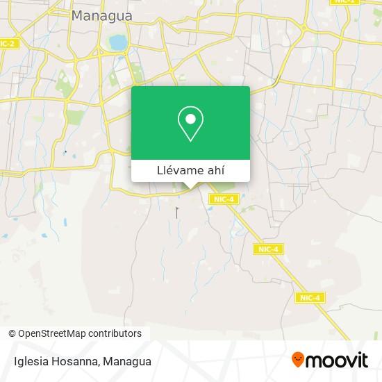 Mapa de Iglesia Hosanna