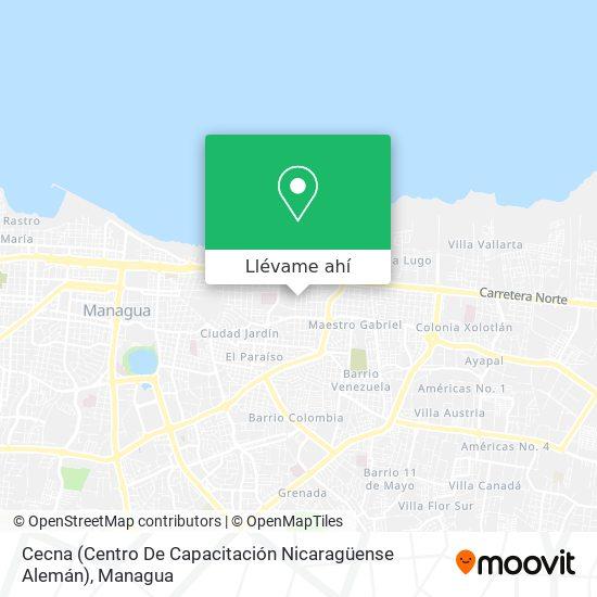 Mapa de Cecna (Centro De Capacitación Nicaragüense Alemán)