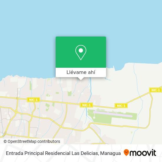 Mapa de Entrada Principal Residencial Las Delicias