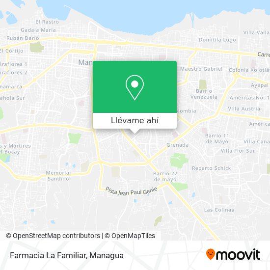 Mapa de Farmacia La Familiar