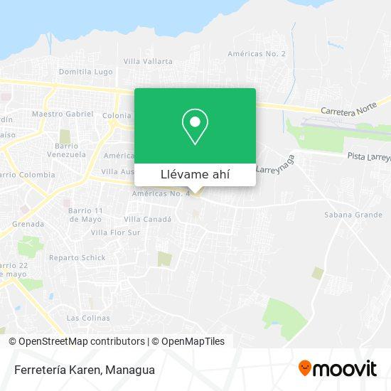 Mapa de Ferretería Karen