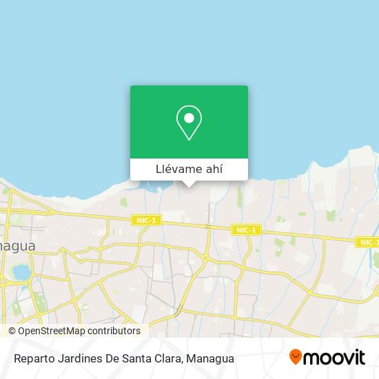 Mapa de Reparto Jardines De Santa Clara