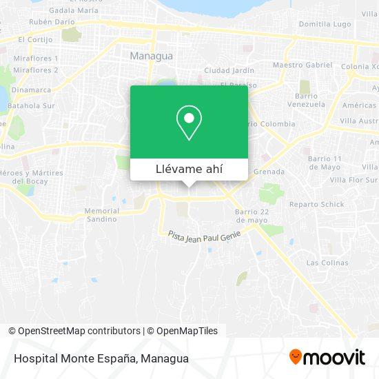 Mapa de Hospital Monte Espana