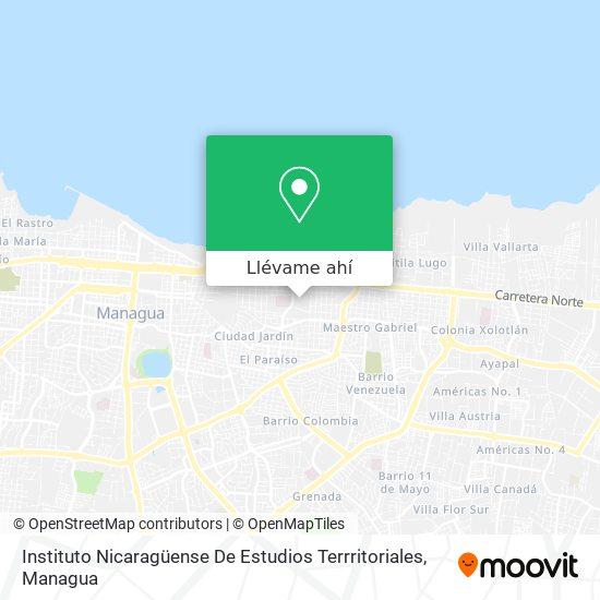 Mapa de Instituto Nicaragüense De Estudios Territoriales - Ineter