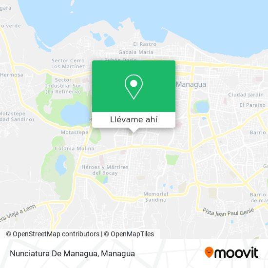 Mapa de Nunciatura De Managua