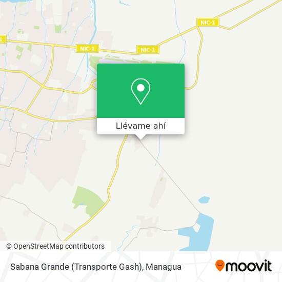 Mapa de Sabana Grande (Transporte Gash)