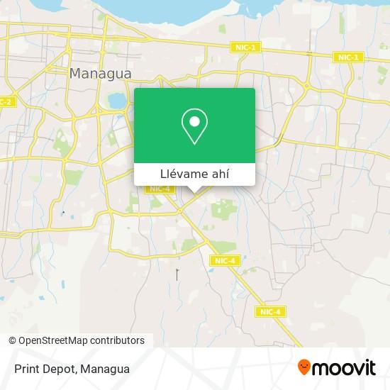 Mapa de Print Depot