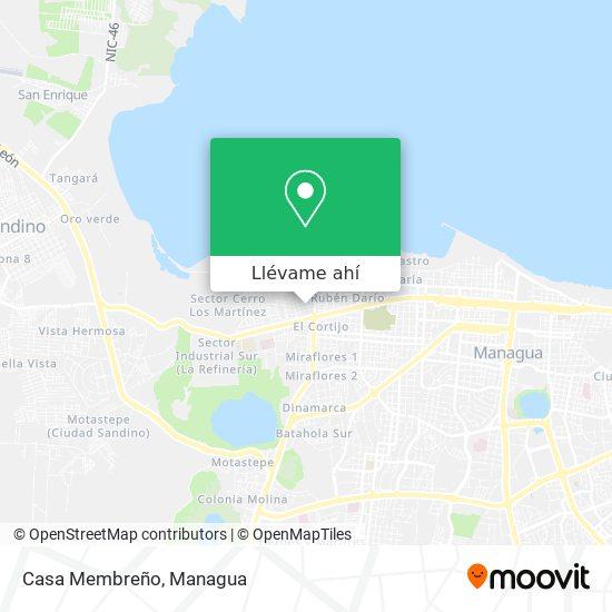 Mapa de Casa Membreño