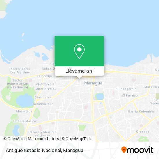 Mapa de Estadio Nacional Dennis Martínez