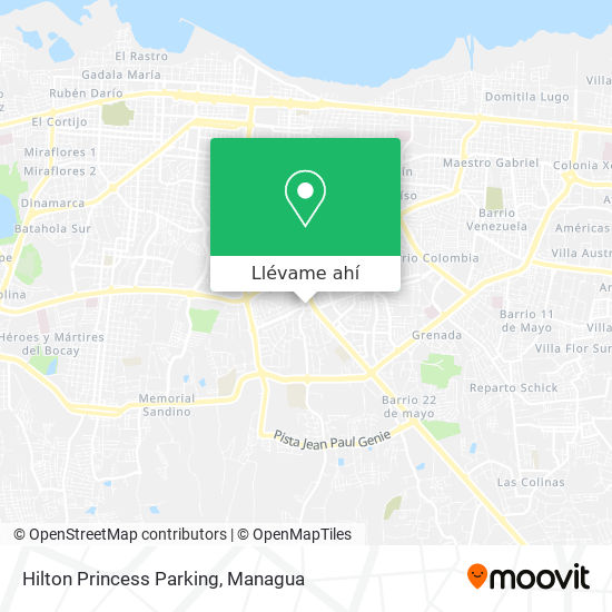 Mapa de Hilton Princess Parking