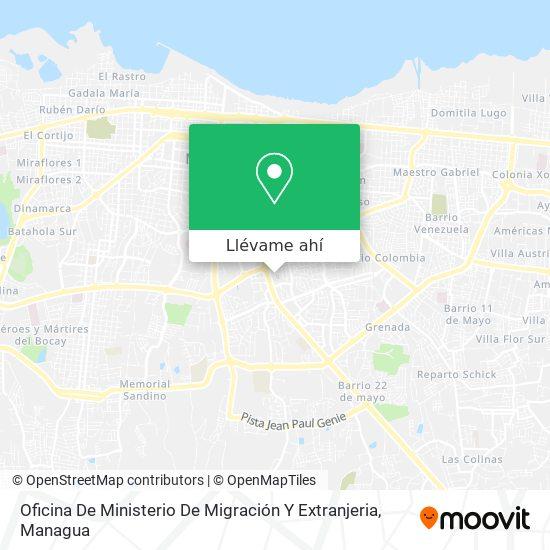 Mapa de Oficina De Ministerio De Migración Y Extranjeria
