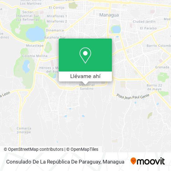 Mapa de Consulado De La República De Paraguay
