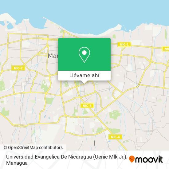 Mapa de Universidad Evangelica De Nicaragua (Uenic Mlk Jr.)