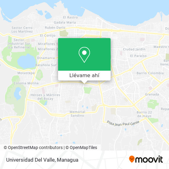Mapa de Universidad Del Valle